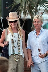 """File picture of Ellen De Generes and Portia de Rossi strolling In Gustavia's Harbor enjoying St Barts lifestyle. The island was a paradise until September 6, 2017. Hurricane Irma left a trail of """"absolute devastation"""", destroying houses, snapping trees and killing at least eight persons as it tore across the tiny Caribbean island of St Barts on Wednesday with 185-mile-per-hour winds. Photo by Papixs/ABACAPRESS.COM"""