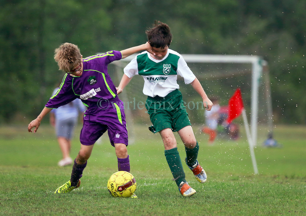 12 April 2015. Hammond, Louisiana.<br /> U10 New Orleans Jesters Elites, team green beat SYSC Kaos 3-1 at the Strawberry Cup hosted by the South Tangipahoa Youth Soccer Association (STYSA).<br /> Photo; Charlie Varley/varleypix.com
