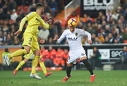 January 26, 2019 - Valencia, Valencia, Spain - Rodrigo Moreno of Valencia CF scores a goal during the La Liga Santander match between Valencia and Villarreal at Mestalla Stadium on Jenuary 26, 2019 in Valencia, Spain. (Credit Image: © Maria Jose Segovia/NurPhoto via ZUMA Press)