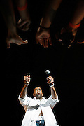 Fans reach out as Ginuwine performs at Spring Music Fest on May 19 at the Toyota Center in Kennewick.