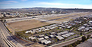 Aerial over Orange County 405 Freeway And John Wayne Airport