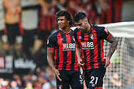 AFC Bournemouth Defender, Nathan Ake (5) and AFC Bournemouth Defender, Diego Rico (21) during the Premier League match between Bournemouth and Leicester City at the Vitality Stadium, Bournemouth, England on 15 September 2018.