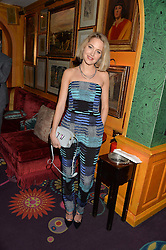 TESS WARD at a Thanksgiving dinner hosted by Alexander Gilkes of Paddle8 at Annabel's, 44 Berkeley Square, London on 23rd November 2016.