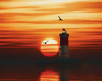 A lighthouse is meant to be a beacon for navigation. You can find a lighthouse along the coast anywhere in the world. In modern times, a lighthouse did lose some of its function due to more advanced technology; However, a lighthouse still retains its romantic function for many.<br /> This painting easily brings the atmosphere of the sea to your home. This coastal scene can be printed in different sizes and on different materials. Both on canvas, wood, metal or framed so it certainly fits into your interior. –<br /> -<br /> BUY THIS PRINT AT<br /> <br /> FINE ART AMERICA / PIXELS<br /> ENGLISH<br /> https://janke.pixels.com/featured/4-pierres-noires-lighthouse-with-a-sunset-jan-keteleer.html<br /> <br /> <br /> WADM / OH MY PRINTS<br /> DUTCH / FRENCH / GERMAN<br /> https://www.werkaandemuur.nl/nl/shopwerk/De-vuurtoren-van-Pierre-Noires-met-een-zonsondergang-en-gele-Stratus-wolken/782457/132?mediumId=15&size=70x55<br /> –<br /> -