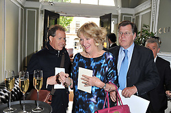 Left to right, VISCOUNT LINLEY and SIMON & ANNABEL ELLIOT at a party to celebrate the 60th birthday of Mark Shand and the 50th birthday of Tara the elephant held at 29 Portland Place, London on 25th May 2011.