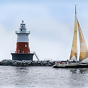 """The lighthouse and the sailboat in the storm.<br /> <br /> For all details about sizes, paper and pricing starting at $85, click """"Add to Cart"""" below."""