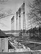 Electricity Pylons in front of the Generating Station, Walchensee-Kochelsee, Bavaria, 1928