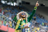 Fan of Brazil before the 2018 FIFA World Cup Russia, Group E football match between Brazil and Costa Rica on June 22, 2018 at Saint Petersburg Stadium in Saint Petersburg, Russia - Photo Thiago Bernardes / FramePhoto / ProSportsImages / DPPI