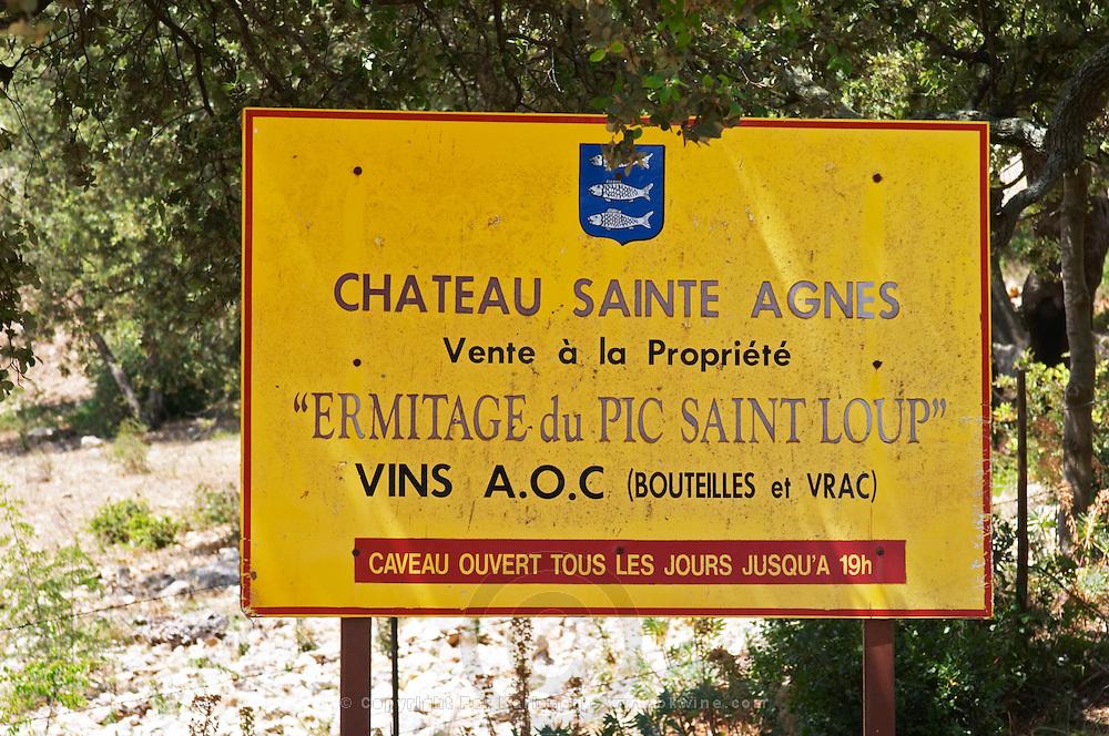 Chateau Saint Agnes Domaine Ermitage du Pic St Loup, Pic St Loup. Languedoc. France. Europe.