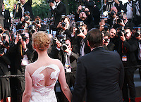 Director Quentin Tarantino and Actress Uma Thurman being photographed at the Palme d'Or  Closing Awards Ceremony red carpet at the 67th Cannes Film Festival France. Saturday 24th May 2014 in Cannes Film Festival, France.