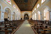 The interior of Shkodër Cathedral, Katedralja e Shkodrës, St Stephen's Catholic Cathedral, Kisha e Madhe, the Great Church. Shkodër, Albania. 02Sep15