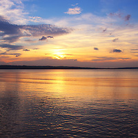 """""""Glorious Setting""""<br /> <br /> Pastel sunset on the Great Lakes.<br /> <br /> Sunset Images by Rachel Cohen"""