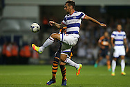 Grant Hall of QPR in action. EFL Skybet football league championship match, Queens Park Rangers v Newcastle Utd at Loftus Road Stadium in London on Tuesday 13th September 2016.<br /> pic by John Patrick Fletcher, Andrew Orchard sports photography.