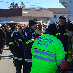 Gordonville, PA, USA - March 10, 2012: Fire police at the Gordonville Mud Sale