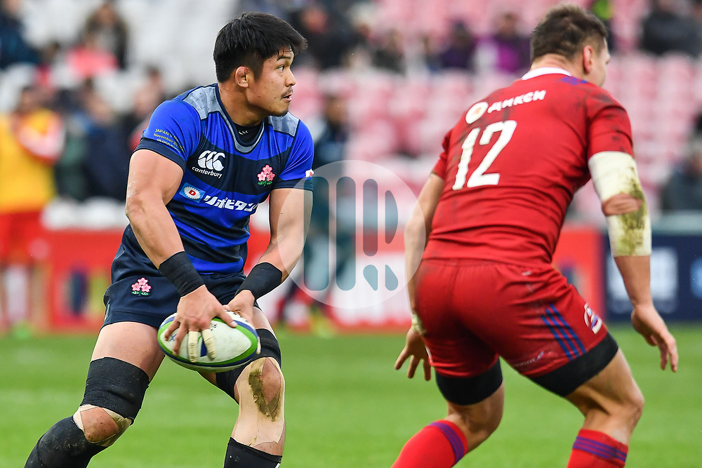 Kazuki Himeno of Japan in action <br /> <br /> Photographer Craig Thomas<br /> <br /> Japan v Russia<br /> <br /> World Copyright ©  2018 Replay images. All rights reserved. 15 Foundry Road, Risca, Newport, NP11 6AL - Tel: +44 (0) 7557115724 - craig@replayimages.co.uk - www.replayimages.co.uk