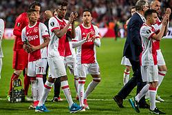 24-05-2017 SWE: Final Europa League AFC Ajax - Manchester United, Stockholm<br /> Finale Europa League tussen Ajax en Manchester United in het Friends Arena te Stockholm / Justin Kluivert #45 of Ajax, David Neres #77 of Ajax