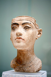 Bust of Tutankhamen Neues Museum or New Museum on Museumsinsel or Museum Island in Berlin