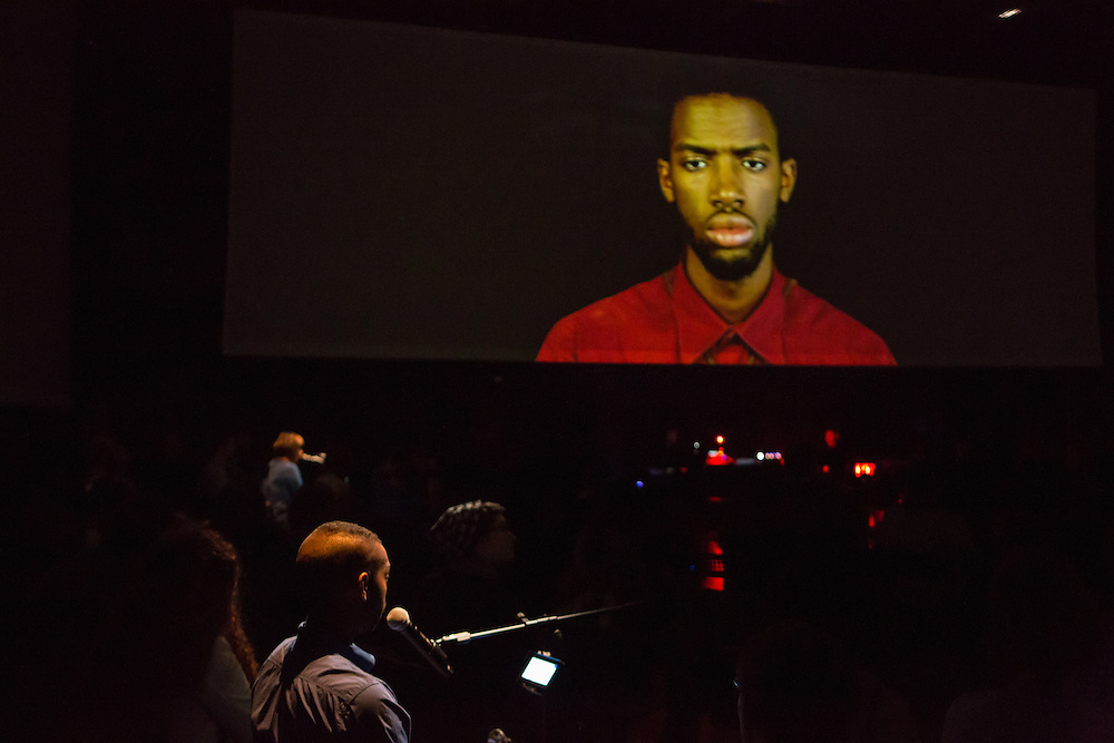 Brooklyn, NY – 22 October 2014. The  Source, an oratorio composed by Ted Hearne, libretto by Mark Doten, directed by Daniel Fish. Part of   the 2014 Next Wave Festival at The Brooklyn Academy of Music.