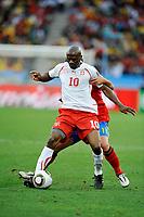 FOOTBALL - FIFA WORLD CUP 2010 - GROUP STAGE - GROUP H - SPAIN v SWITZERLAND - 16/06/2010 - PHOTO GUY JEFFROY / DPPI - BLAISE NKUFO (SWI)