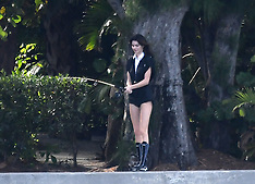 Kendall Jenner uses a fishing pole, a bicycle, and a water hose as props - 5 Feb 2020