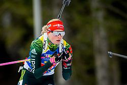Franziska Hildebrand (GER) during Single Mixed Relay at day 1 of IBU Biathlon World Cup 2018/19 Pokljuka, on December 2, 2018 in Rudno polje, Pokljuka, Pokljuka, Slovenia. Photo by Ziga Zupan / Sportida