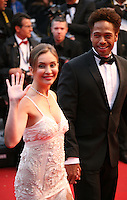 Actress Isabella Orsini and actor Gary Dourdan at the red carpet for the gala screening of Jimmy P. Psychotherapy of a Plains Indian film at the Cannes Film Festival 18th May 2013