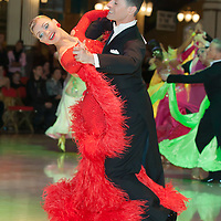 Daniele Scalise & Alla Andryushchenko from Italy perform their dance during the Blackpool Dance Festival that is the most famous event among dance competitions held in Blackpool, United Kingdom on May 26, 2011. ATTILA VOLGYI