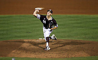 Texas A&M's Kyle Simonds (14) throws to home against TCU during the fourth inning of a NCAA college baseball Super Regional tournament game against TCU, Saturday, June 11, 2016, in College Station, Texas. Texas A&M won 7-1 to even the series at 1-1. (AP Photo/Sam Craft)
