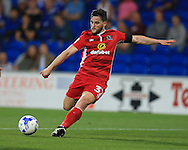 Craig Conway of Blackburn Rovers in action. EFL Skybet championship match, Cardiff city v Blackburn Rovers at the Cardiff city stadium in Cardiff, South Wales on Wednesday 17th August 2016.<br /> pic by Andrew Orchard, Andrew Orchard sports photography.