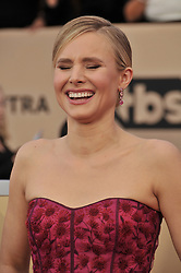 Kristen Bell arrives at the 24th annual Screen Actors Guild Awards at The Shrine Exposition Center on January 21, 2018 in Los Angeles, California. <br /><br />(Photo by Sthanlee Mirador/Sipa USA)