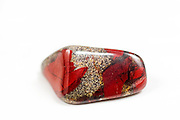 Cutout of a Brecciated Jasper gemstone on white background