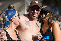 "Brian Elliott of Black Sunshine Customs at Willie's Tropical Tattoo ""Chopper Time"" old school chopper show during Daytona Bike Week's 75th Anniversary event. Ormond Beach, FL, USA. Thursday March 10, 2016.  Photography ©2016 Michael Lichter."