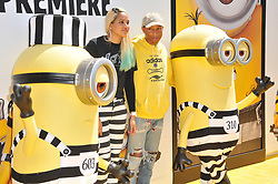 """(L-R) Helen Lasichanh and Pharrell Williams arrives at the """"Despicable Me 3"""" Los Angeles Premiere held at the Shrine Auditorium in Los Angeles, CA on Saturday, June 24, 2017.  (Photo By Sthanlee B. Mirador) *** Please Use Credit from Credit Field ***"""