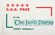 All Ireland Senior Hurling Championship Final,.06.09.1964, 09.06.1964, 6th September 1964,.Minor Cork v Laois, .Senior Kilkenny v Tipperary,..GAA page, The Irish Press, .