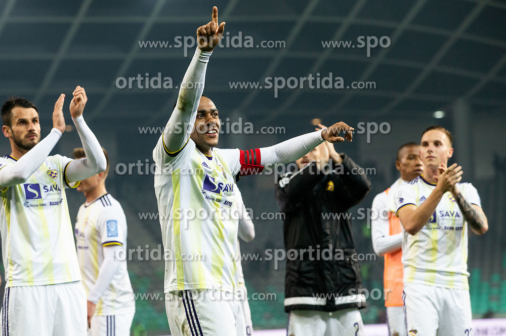 Players of Maribor celebrate after Football match between NK Olimpija and NK Maribor in 23rd Round of Prva liga Telekom Slovenije 2018/19 on March 16, 2019, in SRC Stozice, Ljubljana, Slovenia. Photo by Vid Ponikvar / Sportida
