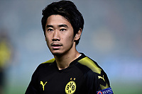 Borussia Dortmund's Shinji attends before their UEFA Champions League Group H match against APOEL Nicosia at the GSP Stadium in Nicosia, Cyprus, on October 17, 2017. Photo: Angelos Tzortzinis/dpa