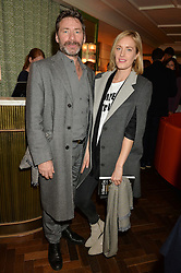 MAT COLLISHAW and POLLY MORGAN at a party hosted by Pace Gallery as part of Frieze 2015 held at 45 Jermyn Street, London on 15th October 2015.