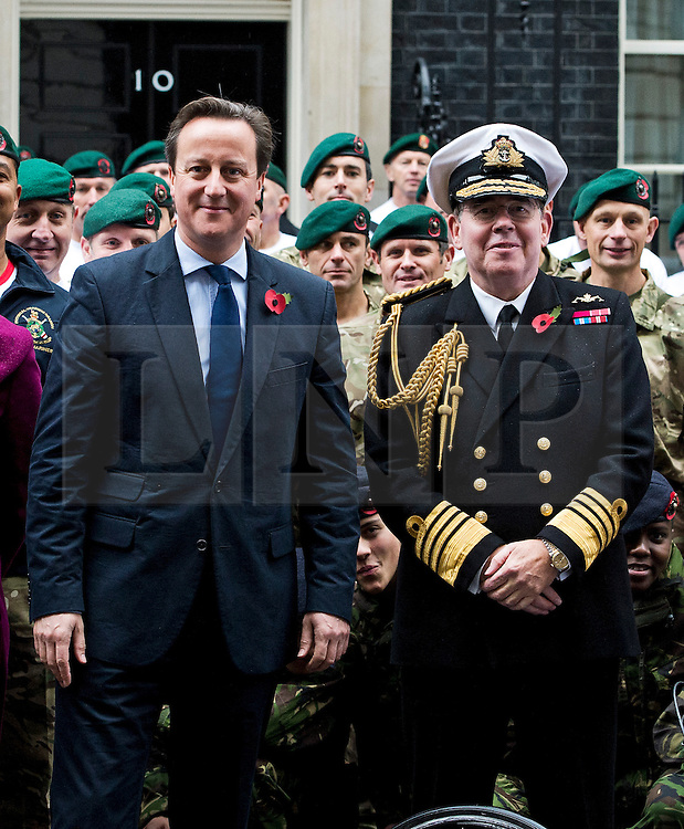 © London News Pictures. 10/11/2012. London, UK. Admiral Sir Mark Stanhope OBE (right) on Downing Street with British Prime Minister David Cameron on November 11, 2012. Photo credit: Ben Cawthra/LNP