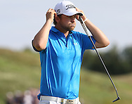 A gasp of relief as Bernd Wiesberger (AUT) wins the Final Round of the 2015 Alstom Open de France, played at Le Golf National, Saint-Quentin-En-Yvelines, Paris, France. /05/07/2015/. Picture: Golffile | David Lloyd<br /> <br /> All photos usage must carry mandatory copyright credit (© Golffile | David Lloyd)