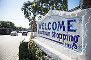 Welcome Sign on Del Mar Street in San Clemente California
