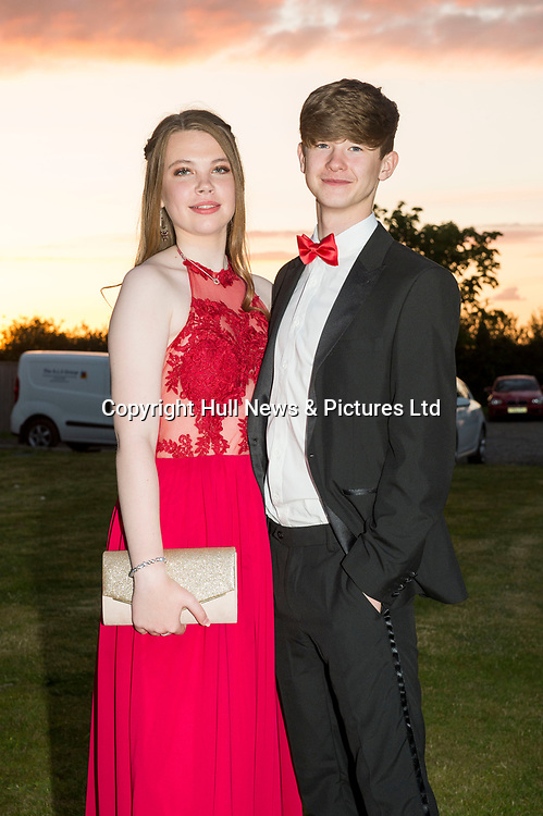 21 JUne 2019: Louth Academy Year 11 Prom at Brackenborough Hotel.<br /> Cody Keeling and Annie Fiddling.<br /> Picture: Sean Spencer/Hull News & Pictures Ltd<br /> 01482 210267/07976 433960<br /> www.hullnews.co.uk         sean@hullnews.co.uk