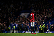 Eric Bailly of Manchester Utd looks dejected after Chelsea score their first of the game.<br /> Premier league match, Chelsea v Manchester United at Stamford Bridge in London on Sunday 5th November 2017.<br /> pic by Kieran Clarke, Andrew Orchard sports photography.