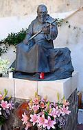 Statue of Father Pio in Atrani ; Amalfi Coast ; Italy