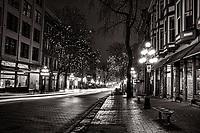 Water Street, Gastown @ Night (monochrome)