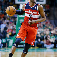 07 April 2013: Washington Wizards point guard John Wall (2) looks to pass the ball during the Boston Celtics 107-96 victory over the Washington Wizards at the TD Garden, Boston, Massachusetts, USA.