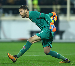 January 5, 2018 - Florence, Italy - Marco Sportiello of Fiorentina  during the serie A match between ACF Fiorentina and FC Internazionale at Stadio Artemio Franchi on January 5, 2018 in Florence, Italy. (Credit Image: © Matteo Ciambelli/NurPhoto via ZUMA Press)