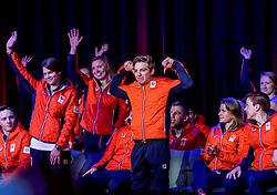 02-01-2018 NED: PloegpresentatieTeamNL, Arnhem<br /> Het Olympisch Team tijdens de teamoverdracht van Olympic en Paralympic TeamNL voor de Olympische Spelen van Pyeongchang