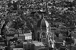BRUSSELS, BELGIUM - APRIL-04-2007 -  Brussels cityscape and skyline, aerial view of Saint Mary's Cathedral in the Schaerbeek neighborhood of Brussels. (Photo © Jock Fistick)