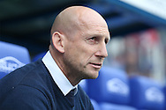 Jaap Stam, the Reading manager looks on from the dugout . EFL Skybet  championship match, Reading  v Huddersfield Town at The Madejski Stadium in Reading, Berkshire on Saturday 24th September 2016.<br /> pic by John Patrick Fletcher, Andrew Orchard sports photography.