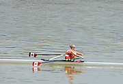 Chungju, South Korea. Lightweight Women's Single Spares race, CAN LW1X, 2013 FISA World Rowing Championships,  at the Tangeum Lake International Regatta Course. 12:46:57  Saturday  24/08/2013 [Mandatory Credit. Peter Spurrier/Intersport Images]